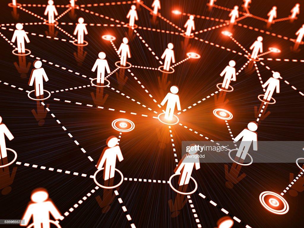 Network optimization and individuality : Stock Photo