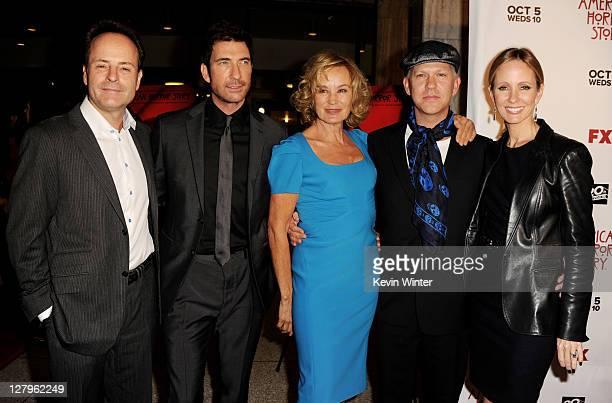 Network president John Landgraf, actor Dylan McDermott, actress Jessica Lange, producer/creator Ryan Murphy and Dana Walden, chairman, 20th Century...
