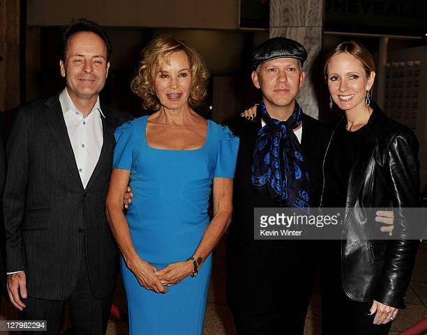 Network president John Landgraf, actress Jessica Lange, producer/creator Ryan Murphy and Dana Walden, chairman, 20th Century Fox Television pose at...