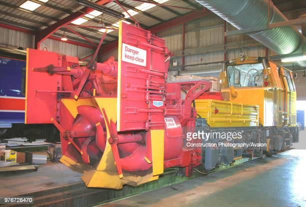 Network Rail's snow blower ADB96850 at Hunslet Barclays Works Kilmarnock on Tuesday 15th April 2003 United Kingdom