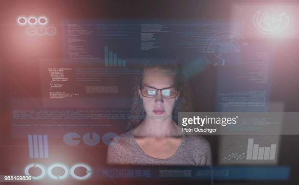network security. - hud graphical user interface stock photos and pictures