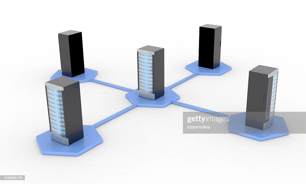 Network  Server : Stock Photo