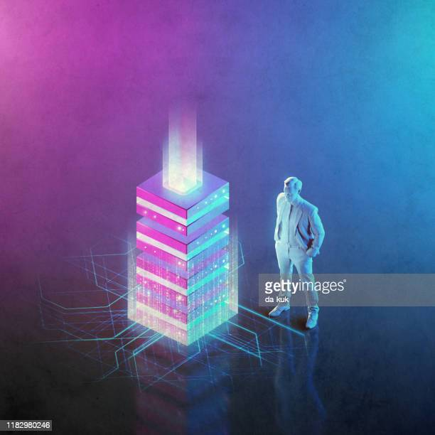 network server solutions - isometric stock pictures, royalty-free photos & images