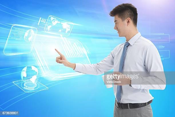 Network technology business man