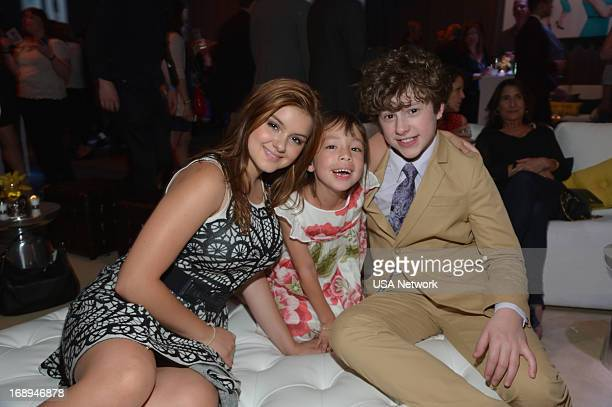 EVENTS 2013 USA Network Upfront at Pier 36 in New York City on Thursday May 16 2013 Pictured Ariel Winter Aubrey AndersonEmmons Nolan Gould