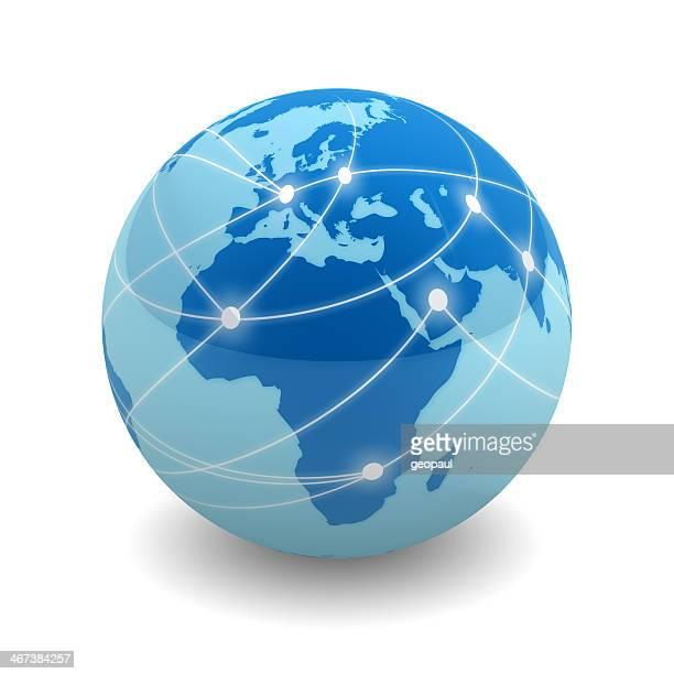 ネットワーク世界-ヨーロッパ、アフリカ&