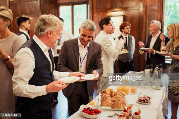networking with breakfast - event stock pictures, royalty-free photos & images