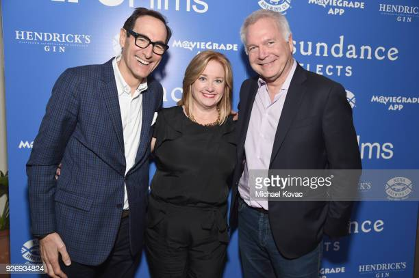 AMC Networks CEO Josh Sapan IFC Films CoPresidents Lisa Schwartz and Jonathan Sehring attend the IFC Films Independent Spirit Awards After Party...