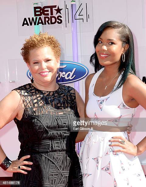 Networks Chairman CEO Debra L Lee and daughter Ava Coleman attend the BET AWARDS '14 at Nokia Theatre LA LIVE on June 29 2014 in Los Angeles...