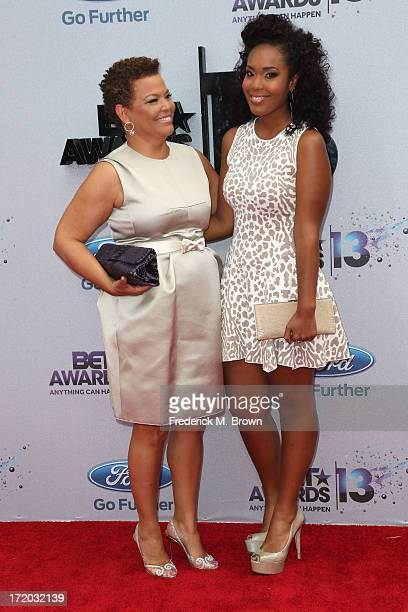 Networks Chairman CEO Debra Lee and daughter Ava Coleman attend the 2013 BET Awards at Nokia Theatre LA Live on June 30 2013 in Los Angeles California