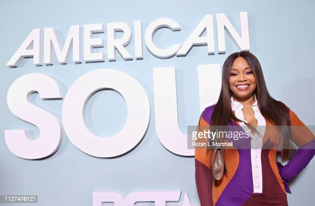 Networks Connie Orlando attends BET's 'American Soul' Red Carpet at Wolf Theatre on February 04 2019 in North Hollywood California