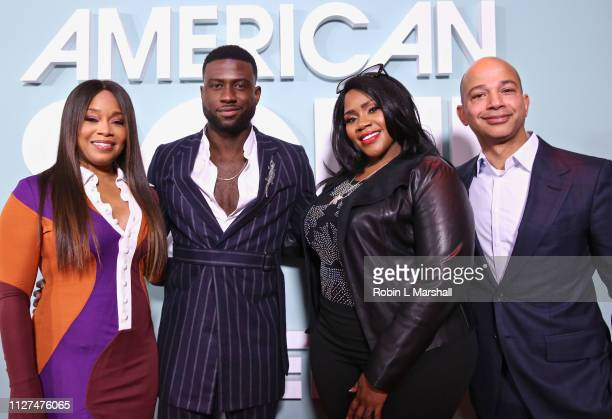 BET Networks Head of Programming Connie Orlando Actor Sinqua Walls Singer Kelly Price and President of BET Networks Scott Mills attend BET's...