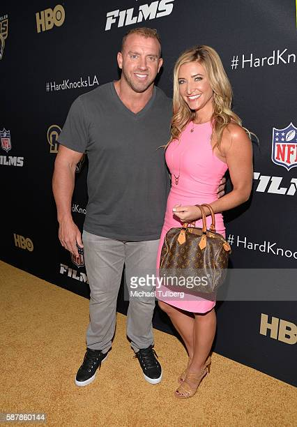 Networks' Heath Evans and Cynthia Frelund attend the premiere of HBO and NFL Films' Hard Knocks Training Camp With The Los Angeles Rams at Regal LA...