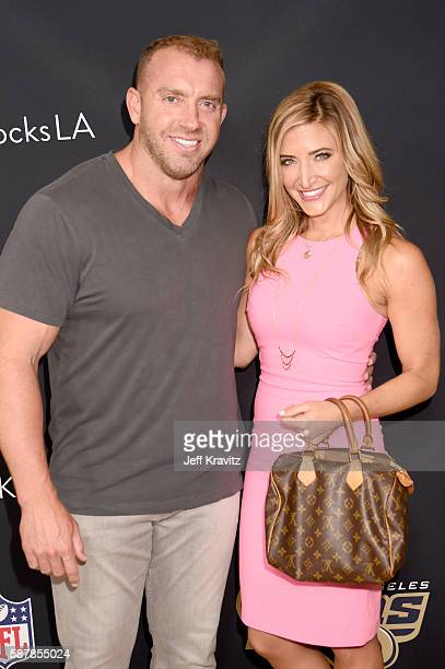 Network's Heath Evans and Cynthia Frelund attend the LA premiere of HBO's Hard Knocks Training Camp With The Los Angeles Rams at Regal LA Live...