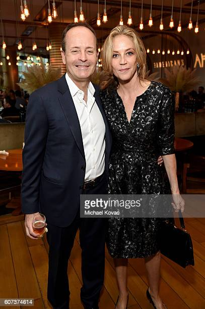 Networks John Ladgraf and actress Ally Walker at Vanity Fair And FX's Annual Primetime Emmy Nominations Party on September 17 2016 in Beverly Hills...