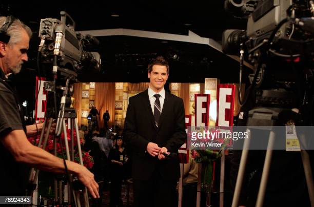 E Networks News Correspondent Jason Kennedy Is Seen Prior To The 65th Annual Golden Globe Awards