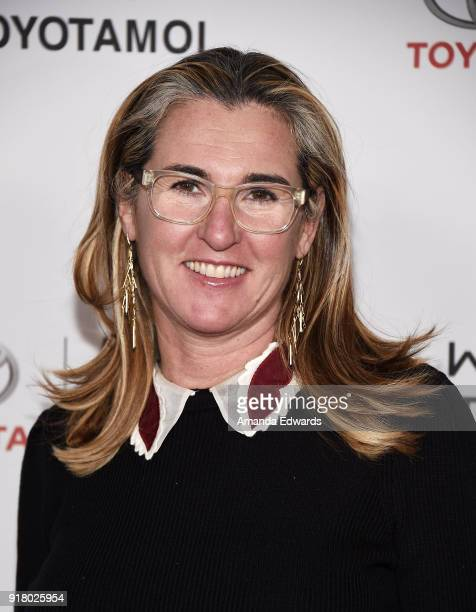 Networks President and CEO Nancy Dubuc arrives at the 2018 Women In The World Los Angeles Salon at NeueHouse Hollywood on February 13 2018 in Los...