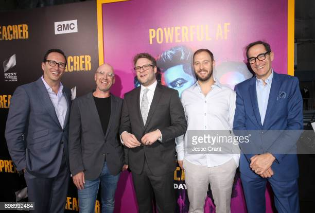 Networks President and General Manager Charlie Collier Showrunner Sam Catlin producer Seth Rogen producer Evan Goldberg and AMC Networks CEO Josh...