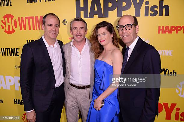 SHOWTIME Networks President David Nevins actors Steve Coogan Kathryn Hahn and SHOWTIME Networks Chairman and CEO Matthew C Blank attend the premiere...