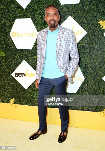 Networks President of Media Sales Louis Carr arrives at the BET Her Awards Presented By Bumble at Conga Room on June 21 2018 in Los Angeles California