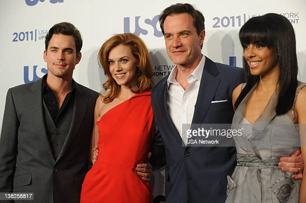 EVENT USA Network's Upfront Event at Lincoln Center in New York City on Monday May 2 2011 Pictured Matt Bomer Hilarie Burton Tim DeKay Marsha Thompson