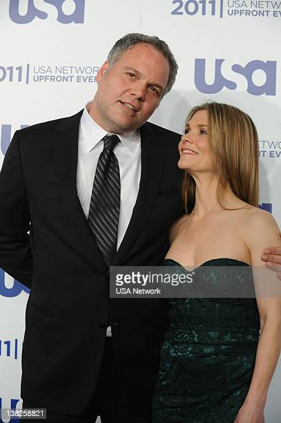 EVENT USA Network's Upfront Event at Lincoln Center in New York City on Monday May 2 2011 Pictured Vincent D'Onofrio Kathryn Erbe