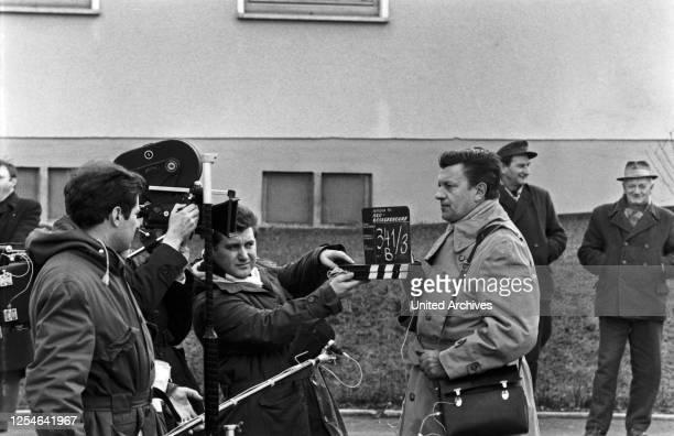 Neu-Böseckendorf, Fernsehfilm, Deutschland 1969, Regie: Robert A Stemmle, Darsteller beim Filmdreh.