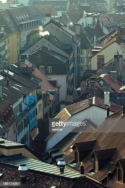 ヌーシャテル旧市街の建物 - ヌーシャテル ストックフォトと画像