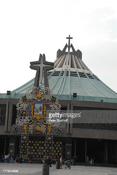 Neue Kirche Basilika der Jungfrau von Guadeloupe Mexico Stadt Mexico Mittelamerika religiös Religion Mexiko Reise