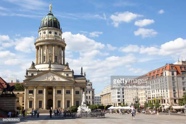 neue kirche, berlin - gendarmenmarkt stock photos and pictures