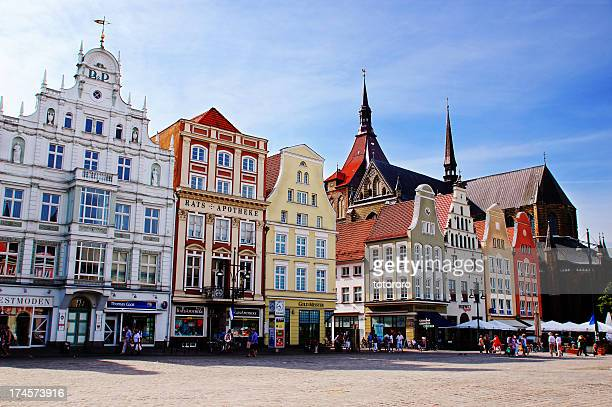 Neuer Markt (New Market Square) in Rostock Germany