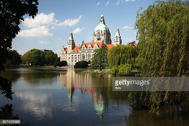 neues rathaus (new town hall), hannover/ niedersachsen/ germany - hanover germany stock photos and pictures