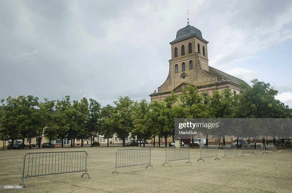 Neuf Breisach church : Stock Photo
