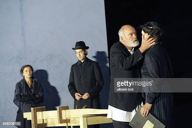 "Neuhardenberg Castle Openair theatre play And a Light Shines in Darkness"" Leo Tolstoy as staged by Volker Schlöndorff actors JNaomi Krauss Sebastian..."