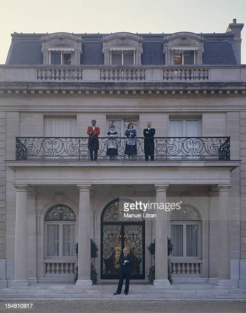 NeuillysurSeine 11 December 1989 the residence of the Duke and Duchess of Windsor in the Bois de Boulogne oree restored and transformed into a museum...