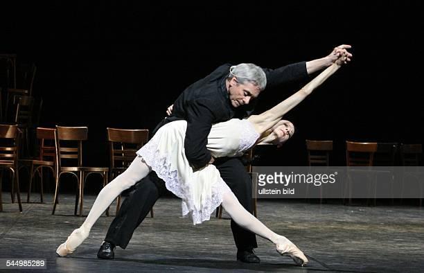 Neumeier John Ballet Dancer Choreographer USA dancing with Joelle Boulogne Les chairs during the Hamburg Ballet Days