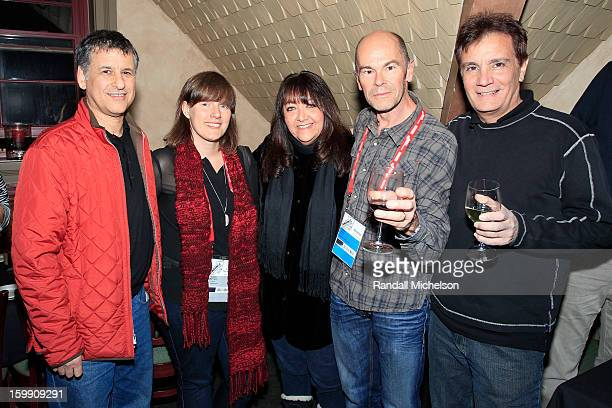 Neuroscientist Daniel Levitin composer Heather McIntosh BMI Executive Doreen RingerRoss director Robert Stone and composer Gary Lionelli attend the...