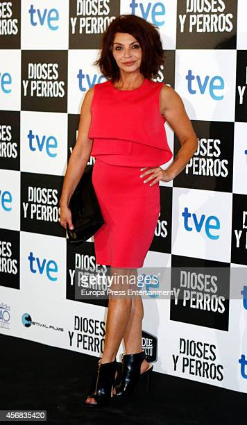 Neus Asensi attends 'Dioses Y Perros' premiere on October 7 2014 in Madrid Spain