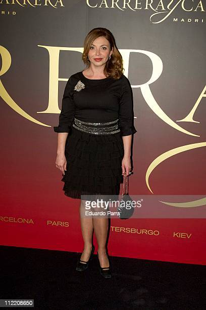 Neus Asensi attends Maja de los Goya awards photocall at Royal Theatre on April 14 2011 in Madrid Spain