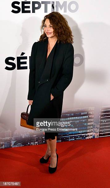 Neus Asensi attends 'Septimo' premiere at Capitol Cinema on November 5 2013 in Madrid Spain