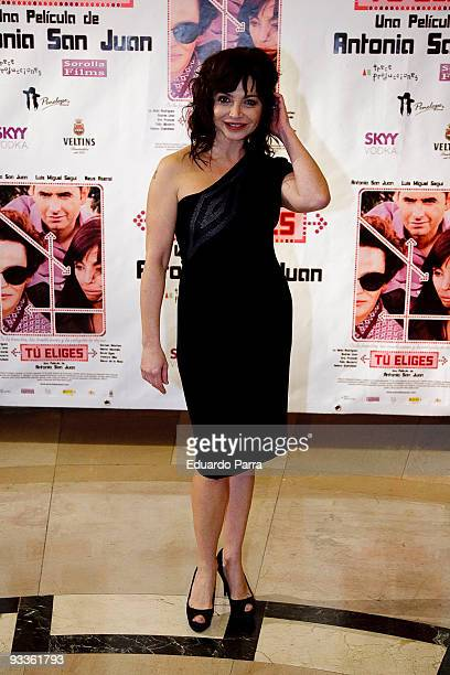 Neus Asensi attends Tu Eliges premiere at Palafox Cinema on November 24 2009 in Madrid Spain