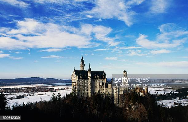 Neuschwanstein castle 18691886 built by King Ludwig II of Bavaria near Fussen Bavaria Germany 19th century
