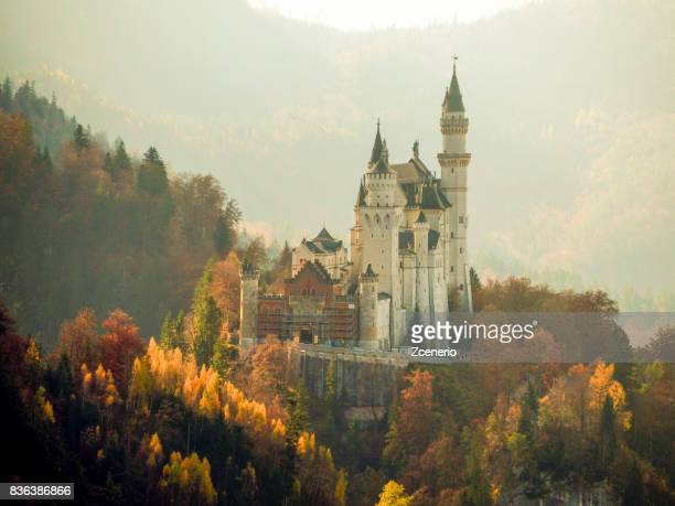 Neuschwanstein Castle during Autumn