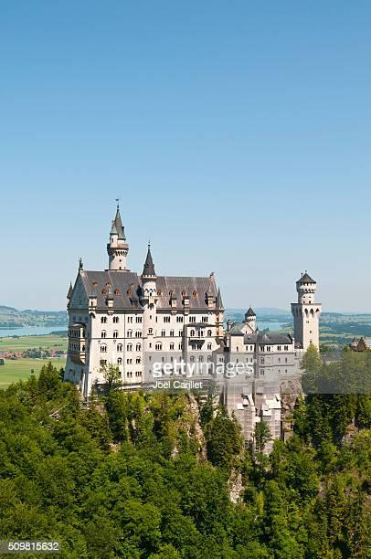 ノイシュバンシュタイン城でババリア,ドイツ