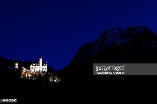 Neuschwanstein Castle is a nineteenth-century Romanesque Revival palace on a rugged hill above the village of Hohenschwangau near Füssen in southwest...