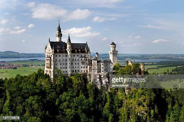 ノイシュバンシュタイン城のパノラマビュー