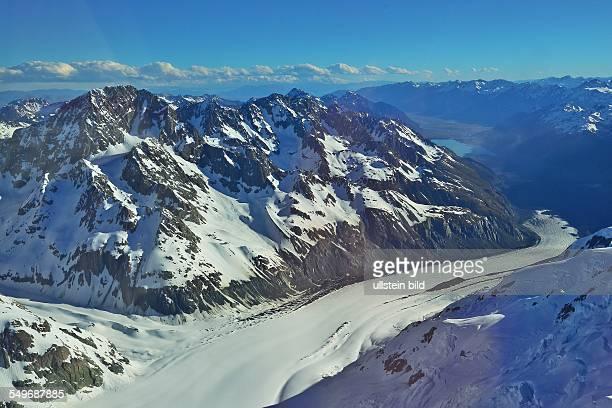 Neuseeland Gletscher in den Suedalpen