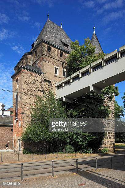 Neuss, Obertor, Upper Town Gate with footbridge to the Clemens Sels Museum