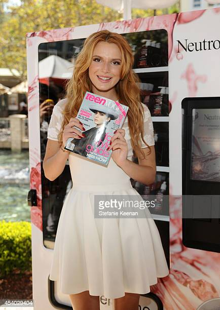 Neutrogena Brand Ambassador Bella Thorne attends Teen Vogue Back To School Saturdays At The Americana At Brand on August 23 2014 in Glendale...