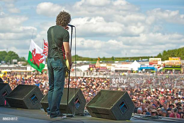 Nev MacDonald of Skin performs on stage on day 3 of the Download Festival at Donnington Park on June 14 2009 in Donnington England